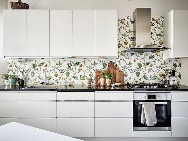 boho style papel pintado para cocina