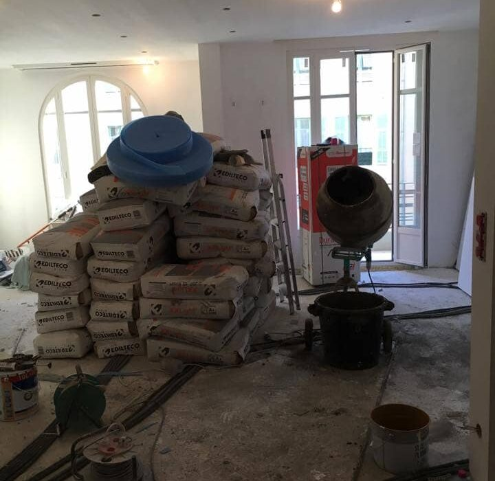Reforma piso suelo cemento
