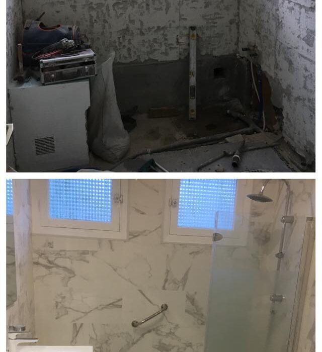 baños antes y despues